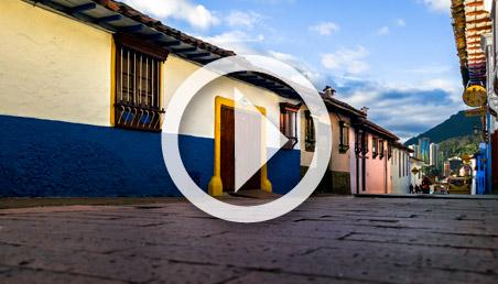 Casas de la época de la Colonia en el Barrio La Candelaria