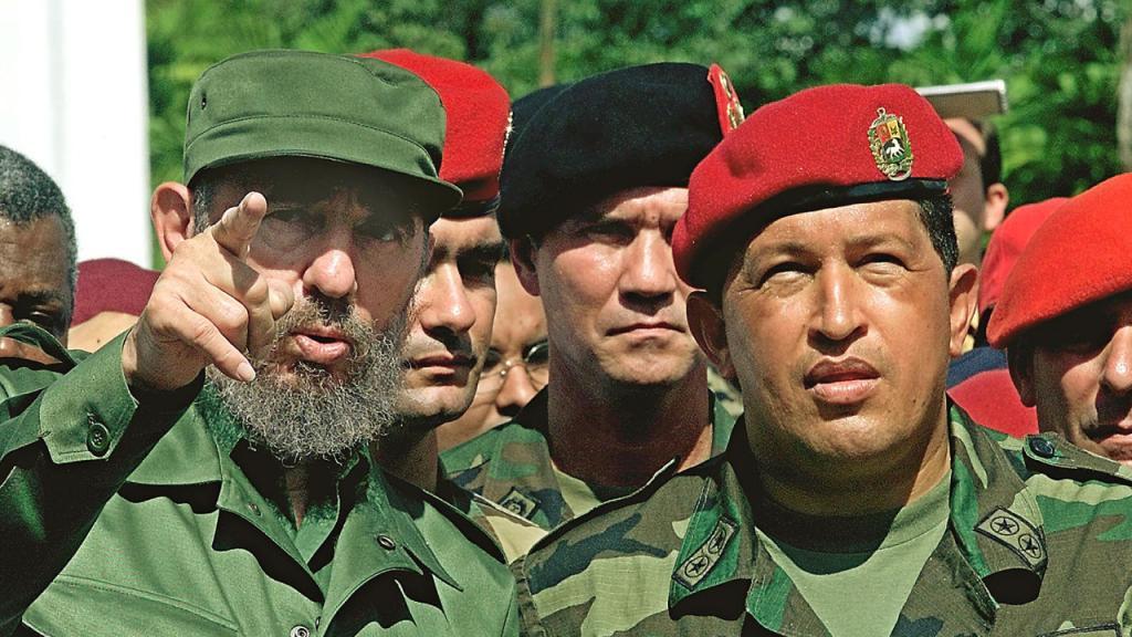 Imagen de Fidel Castro con Hugo Chávez