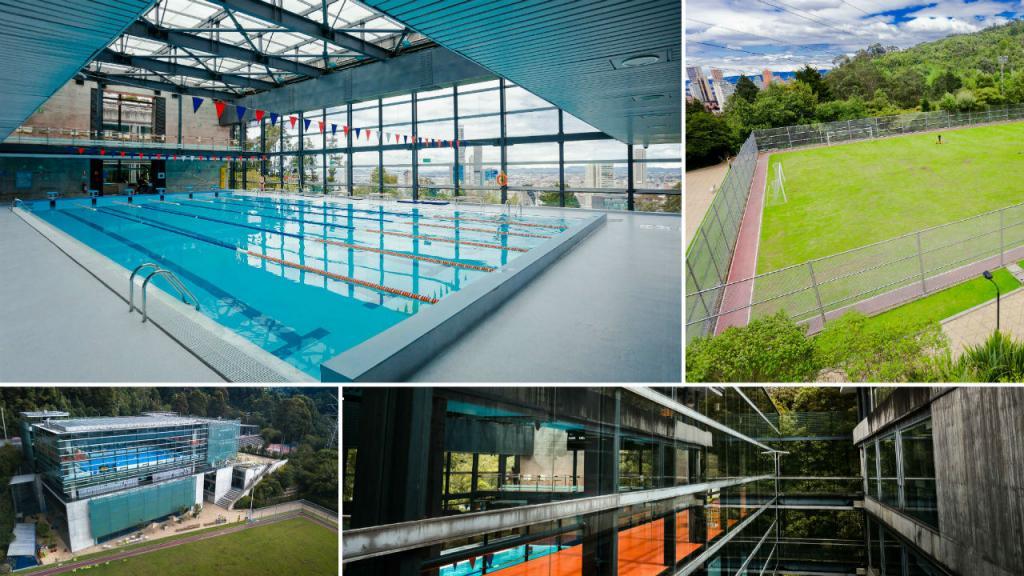El Centro Deportivo de Los Andes cuenta con una piscina semiolímpica, un coliseo múltiple, una cancha de fútbol, muros de escalada, salón de recreación, entre otros.