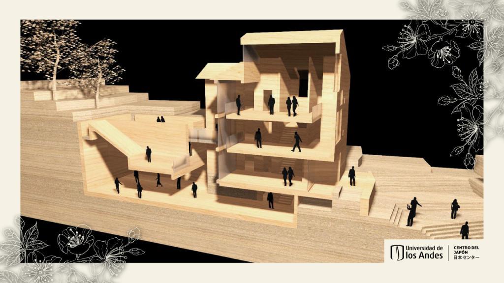 Imagen del diseño del interior del edificio.