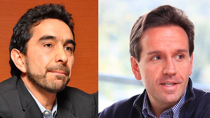 imagen dividida en dos, vemos los rostros de dos hombres uno con barba y el otro no