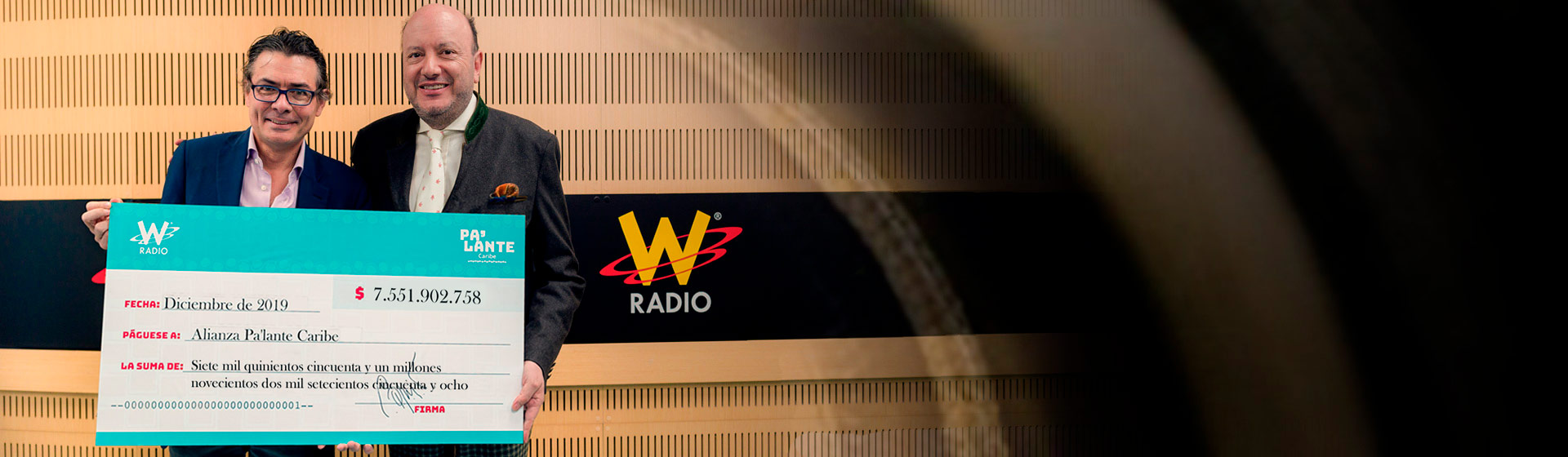 Cheque Balance cierre Pa'lante Caribe W Radio