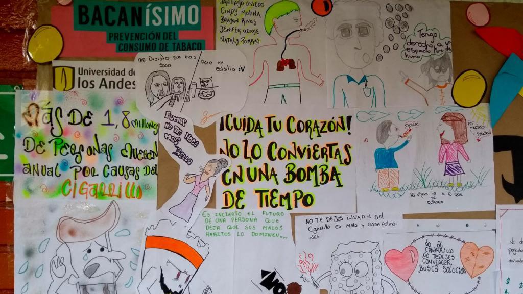 Dibujos de niños en contra del consumo de tabaco