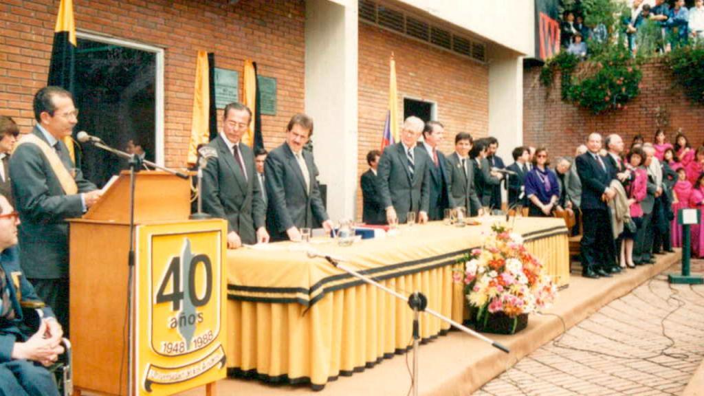 Celebración de los 40 años de la Universidad de los Andes. 1988.