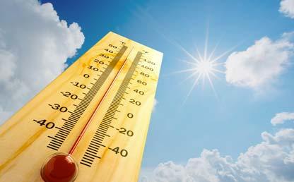 Foto montaje de un termómetro