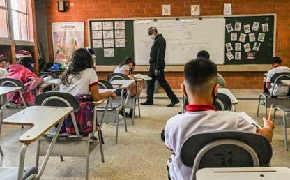 Foto de un colegio en Colombia.