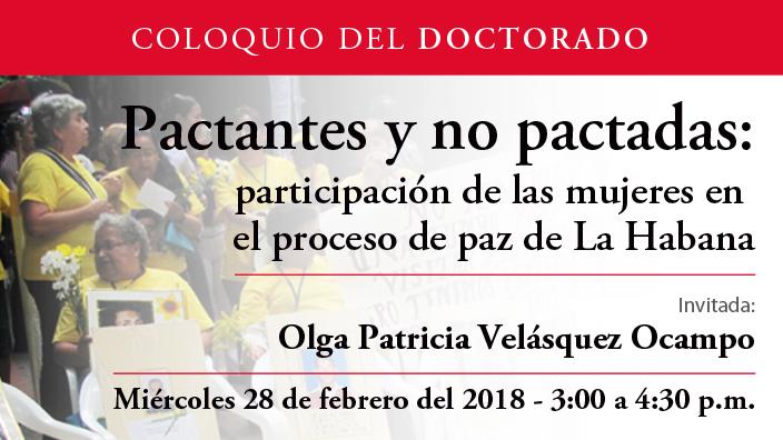 Pactantes y no pactadas: participación de las mujeres en el proceso de paz de La Habana