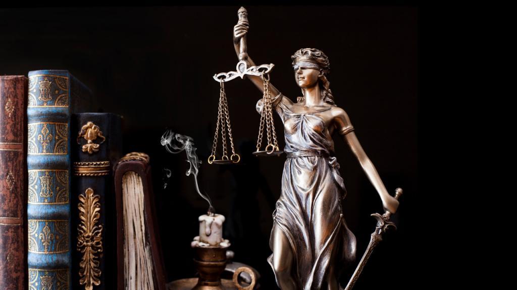 Escultura de Justicia