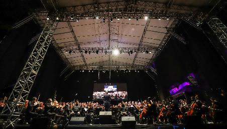 Concierto del Coro y la Orquesta de Los Andes en el Parque Espinosa.