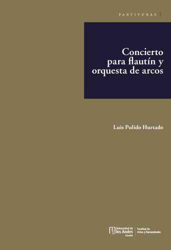Cubierta del libro Concierto para flautín y orquesta de arcos