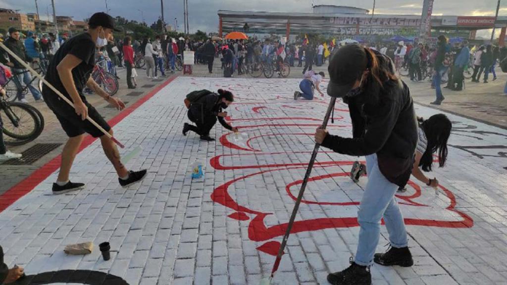 Foto de una manifestación artística en Colombia