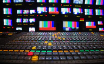 Fotografía de un estudio de televisión