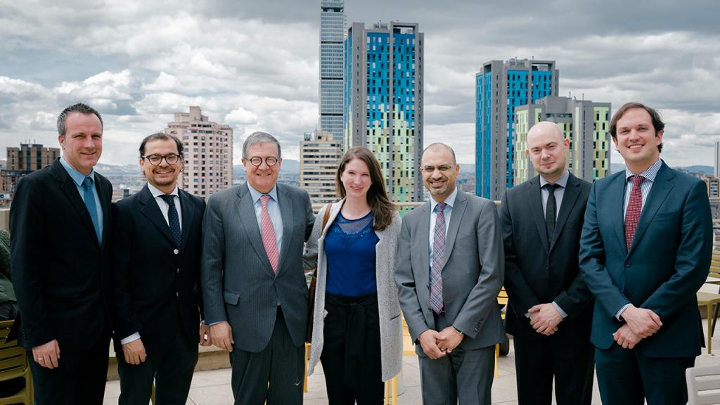 The team from the Justus Liebig University Giessen during their visit to Colombia with Pablo Navas - vice-chancellor of the Universidad de los Andes.