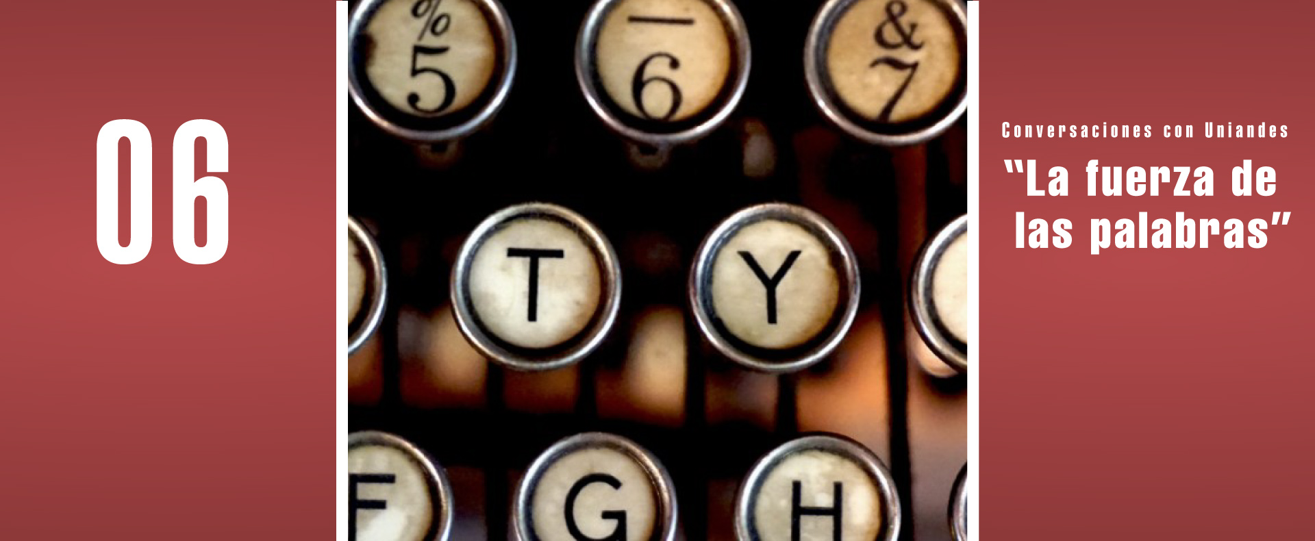 Teclado de máquina de escribir