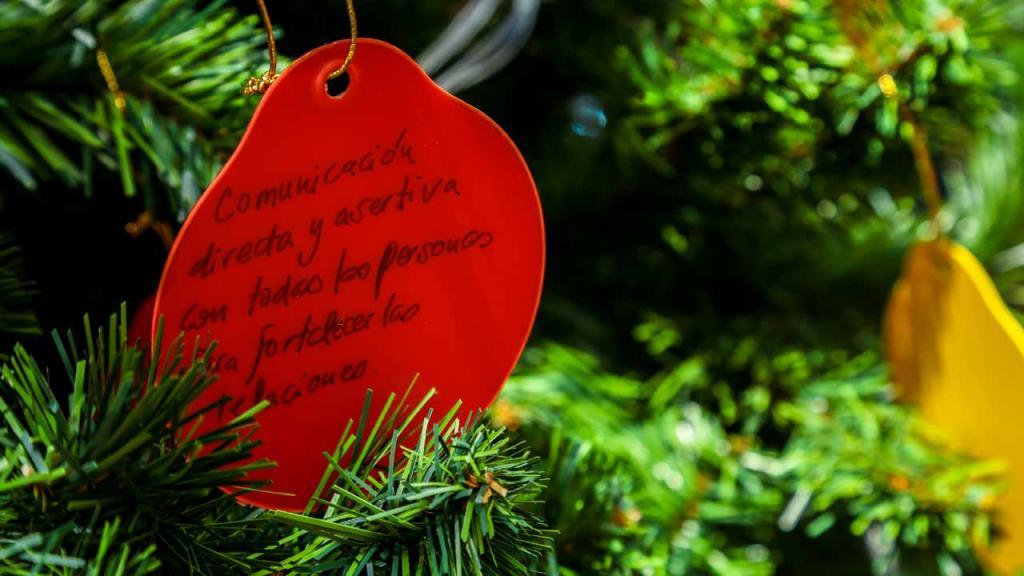 Árbol de Navidad en la Universidad de los Andes