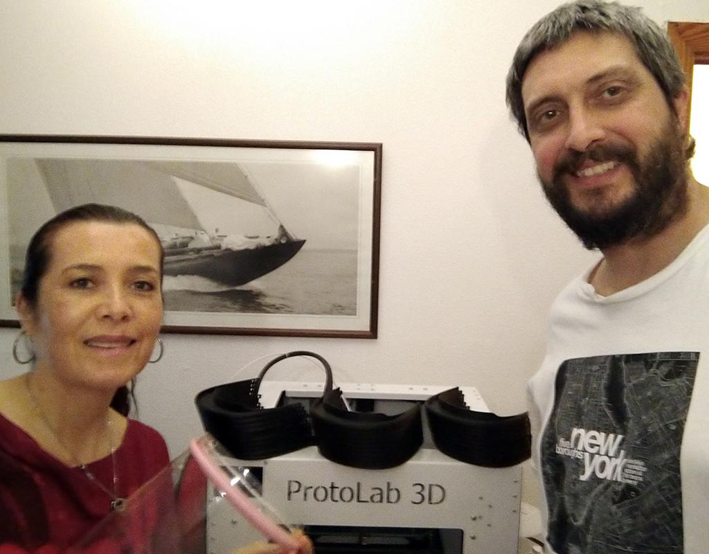 Foto de Luz Adriana Leal y su esposo