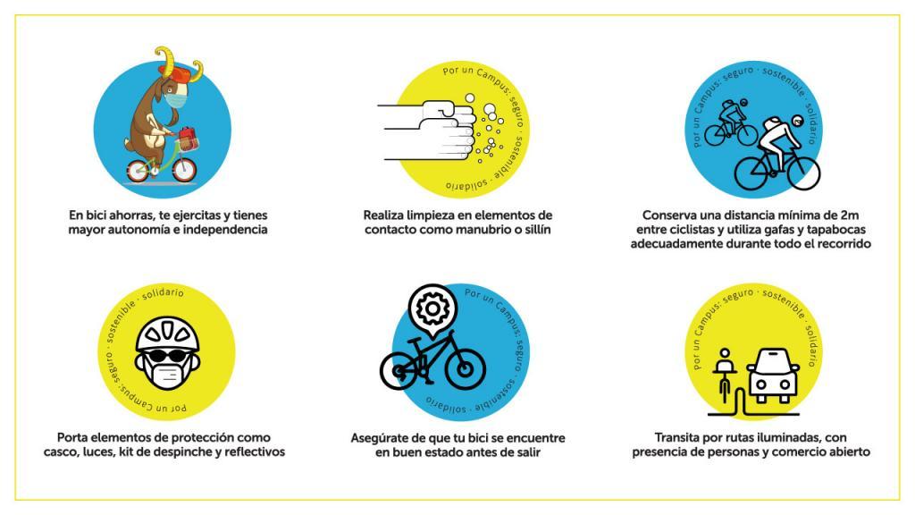 Recomendaciones para volver al Campus en bicicleta