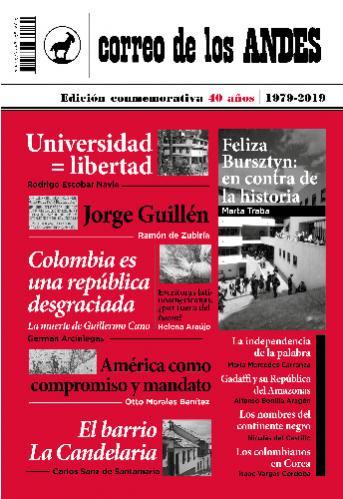 Cubierta del libro Correo de los Andes. Edición conmemorativa 40 años