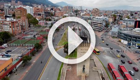 Monumento a los héroes en la ciudad de Bogotá