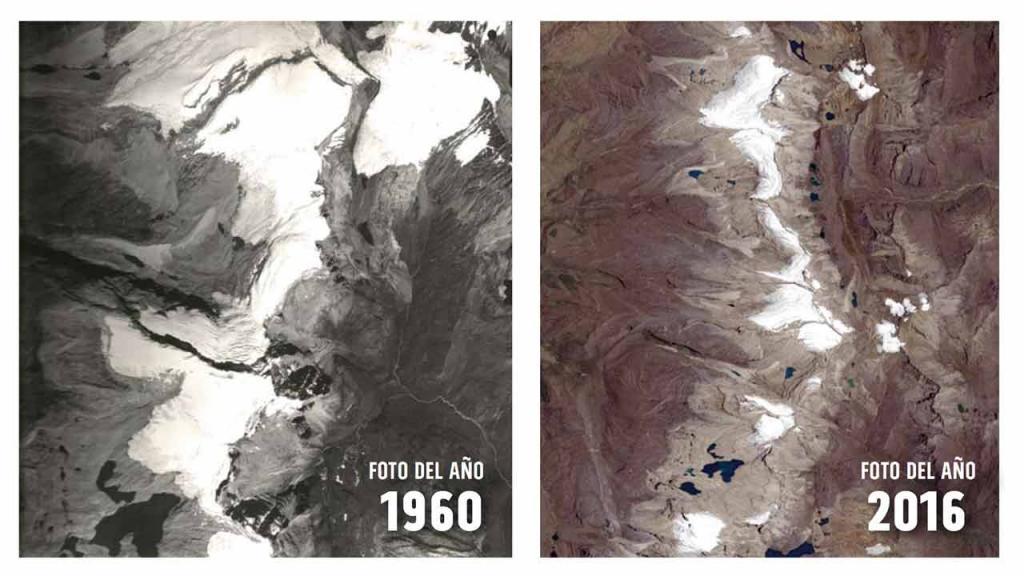 Imagen satelital del Nevado del Cocuy