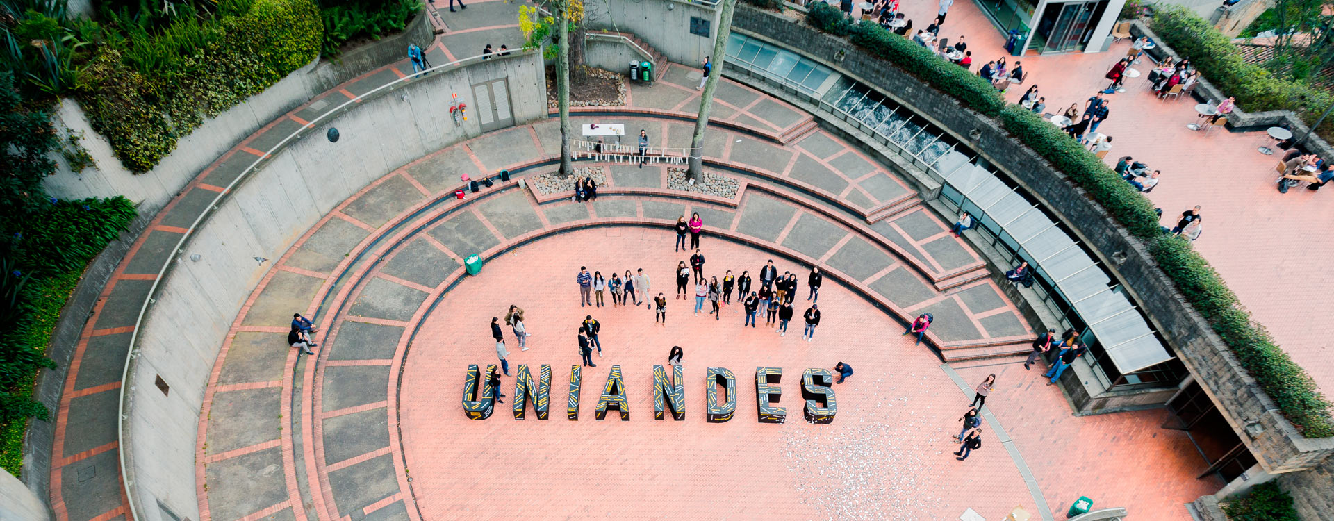 Plazoleta Lleras, de Los Andes en donde se realizó la construcción de valores