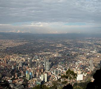 Foto de la contaminación de Bogotá