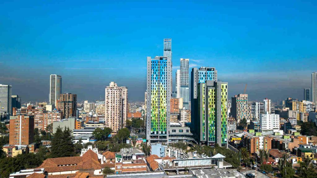 Panorámica de Bogotá el Día sin carro y sin motor