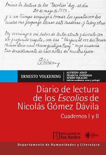 Cubierta del libro Diario de lectura de los Escolios de Nicolás Gómez Dávila