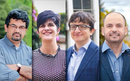 Foto de los cuatro directores de departamentos renovados