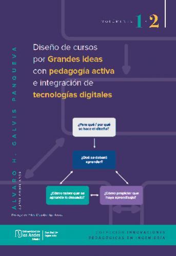 Cubierta del libro Diseño de cursos por grandes ideas, con pedagogía activa e integración de tecnologías digitales