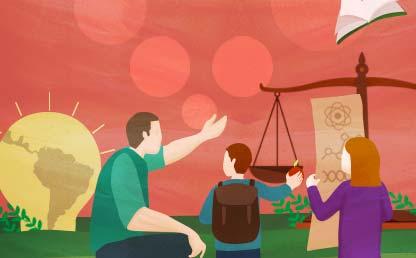 Ilustración sobre educación