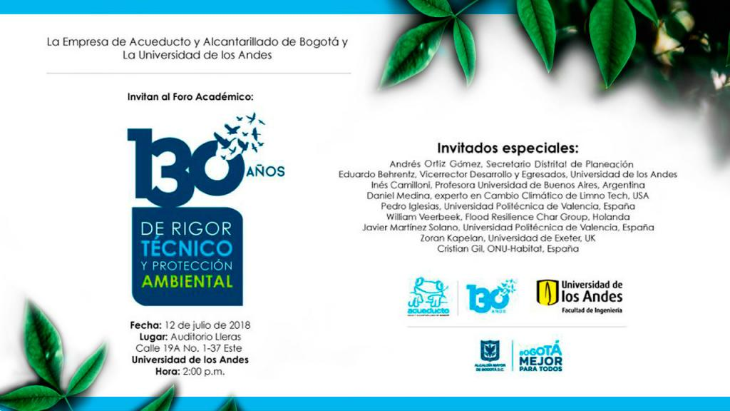 Graficación evento 130 años de rigor técnico y protección ambiental