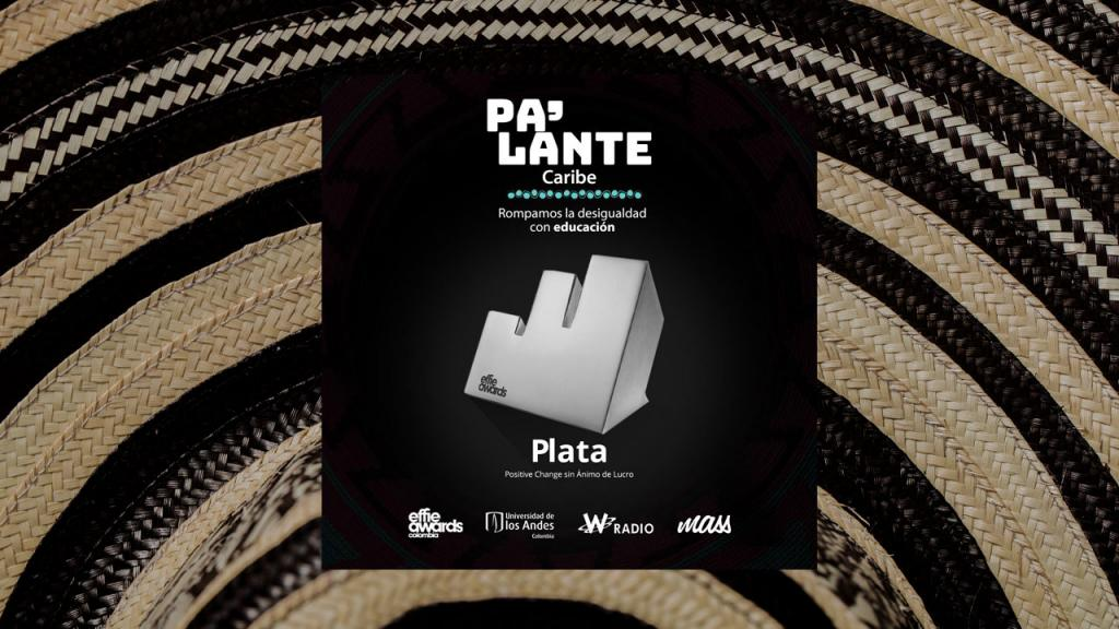 Ilustración del premio Effie Awards Colombia. De fondo la textura de un sombrero vueltiao.