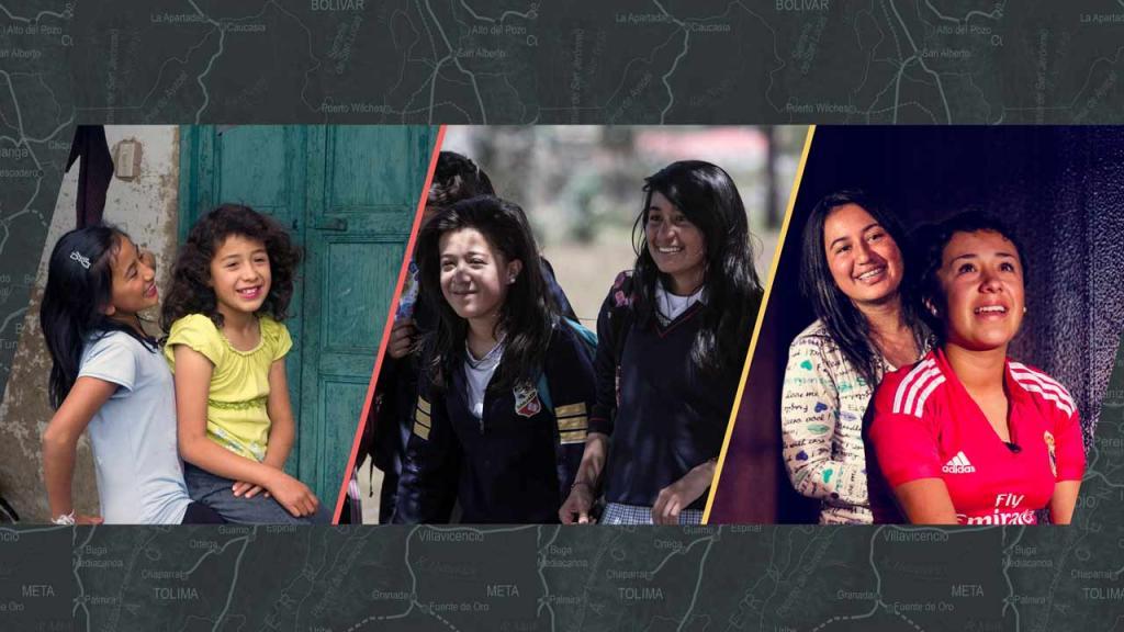 Angie y Daniela en tres etapas de su vida. A la izquierda en 2010, en el centro en 2013 y, a la derecha, en 2016
