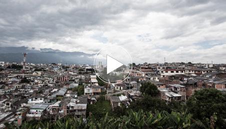 Panorámica zona rural en Colombia