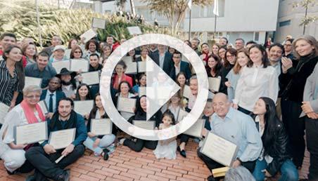Líderes y lideresas sociales se graduaron de la Academia Liderazgo para la Paz, de la Escuela de Gobierno.