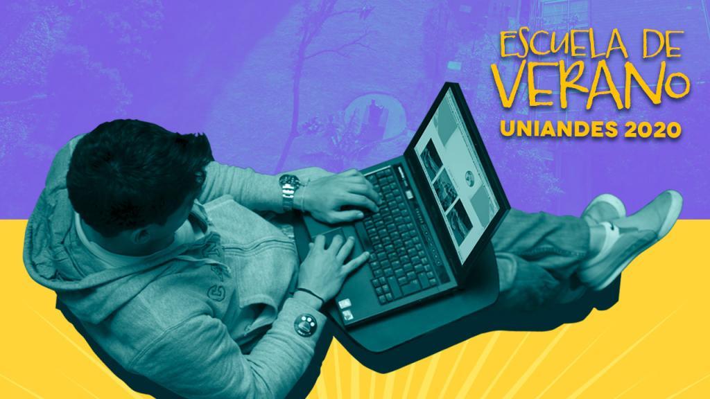 Joven con computador portátil