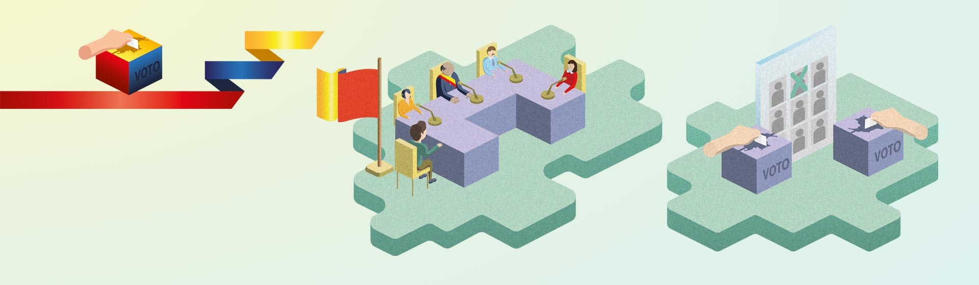 Ilustración sobre elecciones regionales.