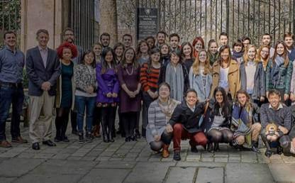 Grupo de estudiantes de Estudios Internacionales en Georgetown