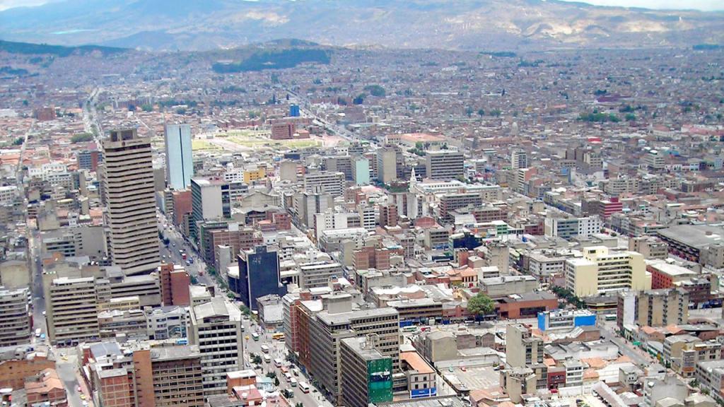 Imagen panorámica de Bogotá