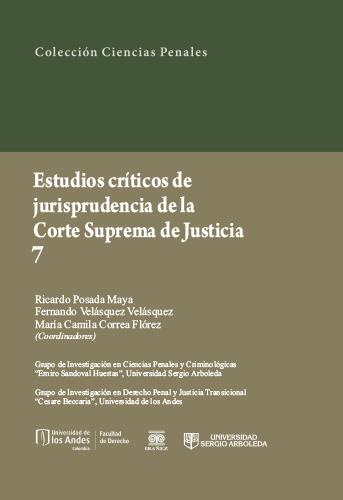 Portada del libro Estudios críticos de la Corte Suprema de Justicia 7