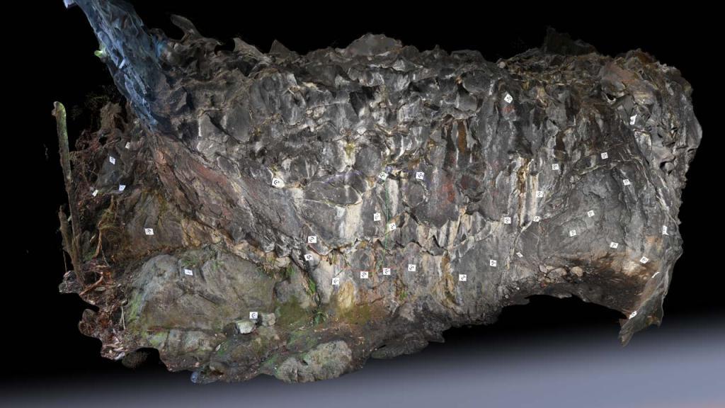 Fotogrametría para el proyecto arqueológico de las Cuevas de Vilcún por Andrés Burbano. Directora del proyecto Dra. Karen Holmberg.