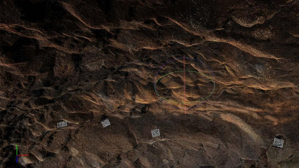 3D image of the inside of one of the caves in Vilvún. Photo by Andrés Burbano.