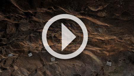 Imagen 3D del interior de una de las cuevas de Vilcún. Foto: Andrés Burbano.