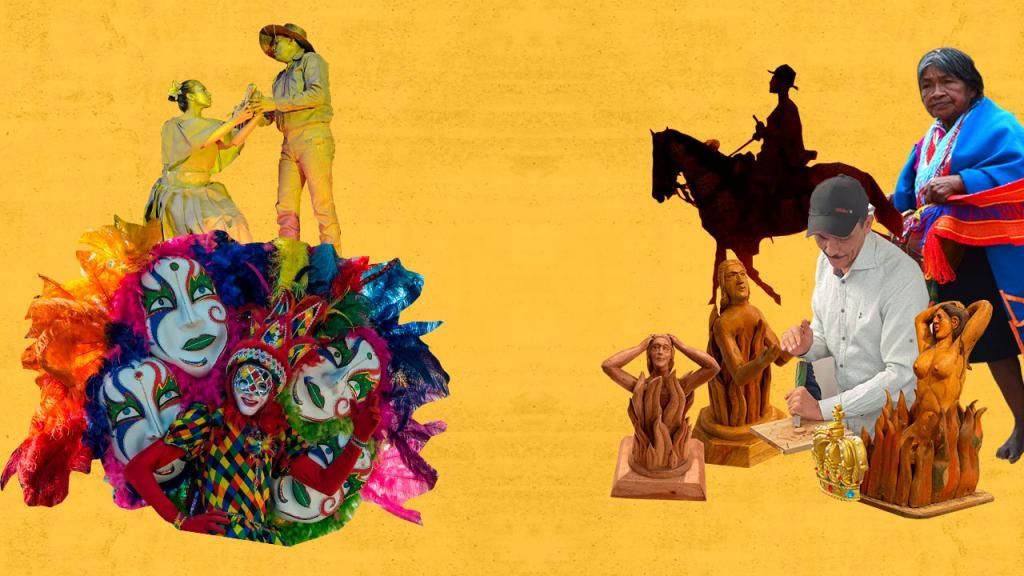 Ilustración sobre el Patrimonio cultural inmaterial de Colombia