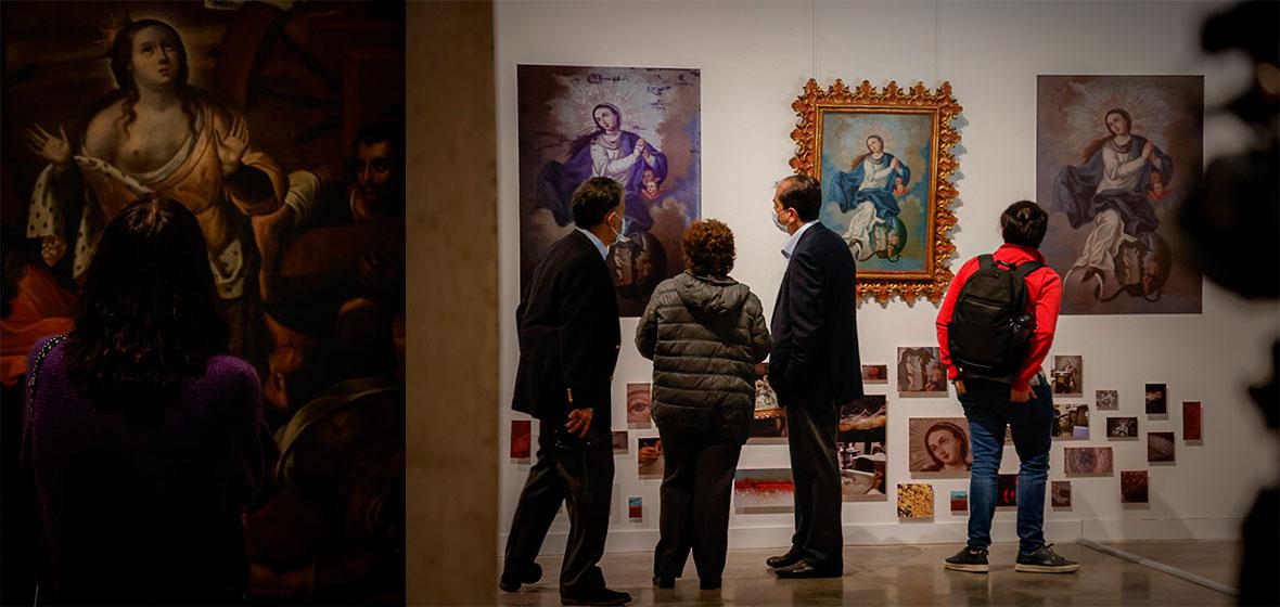 Foto de la inauguración de a nueva sala de exposiciones en el Centro Cívico Universitario