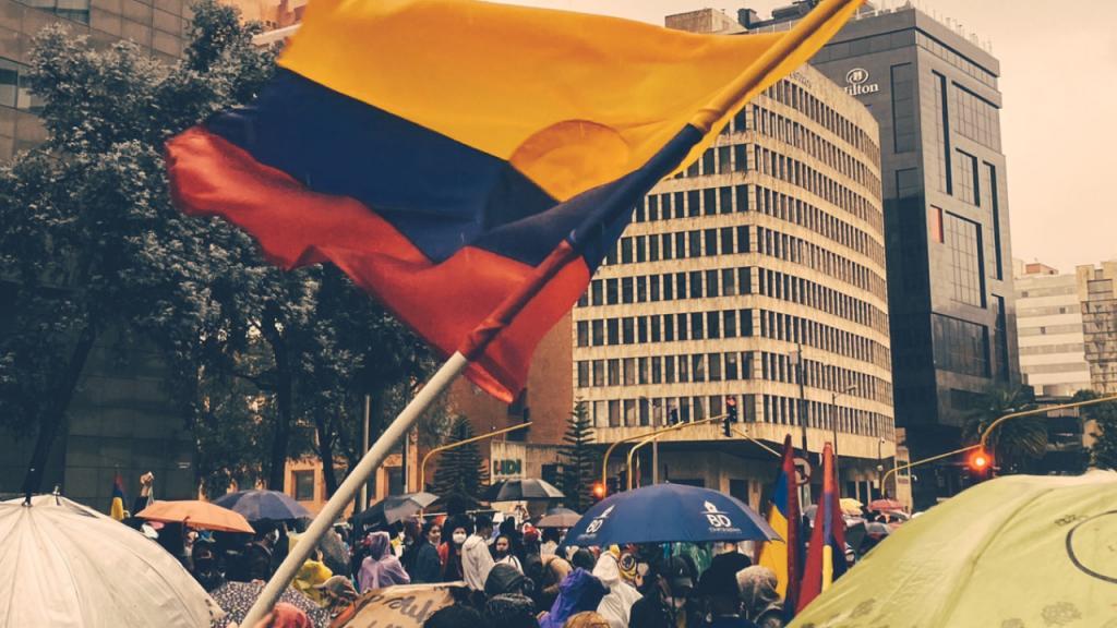 Foto de la bandera de Colombia