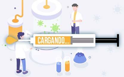 Illustración de laboratorio de COVID-19. Eduardo Behrentz
