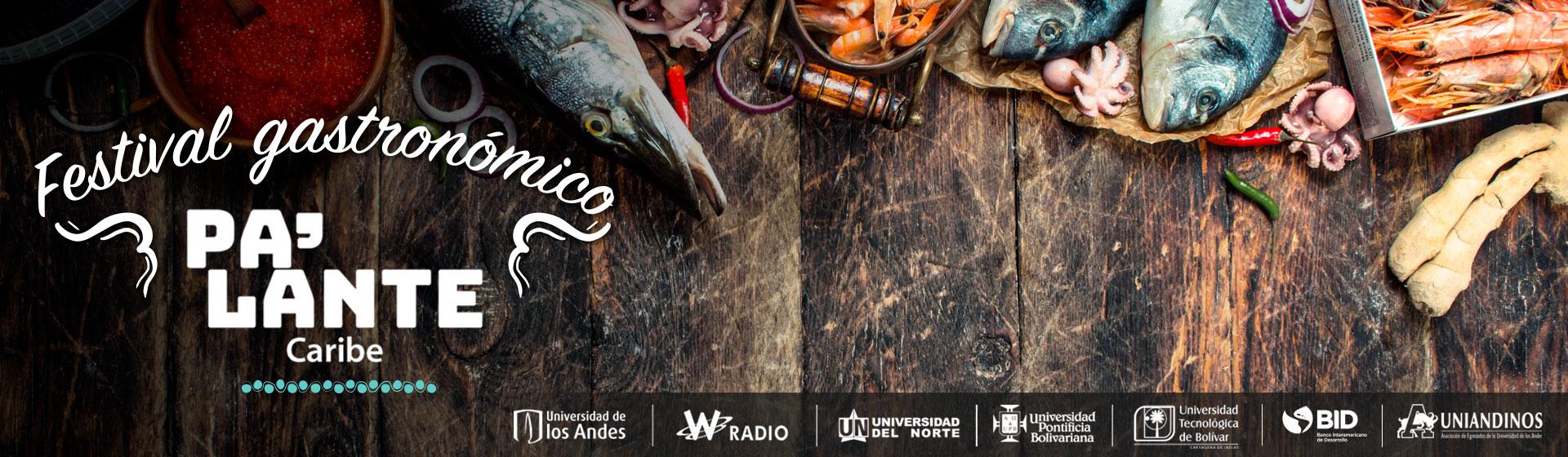Mesa con alimentos de la gastronomía Caribe colombiana