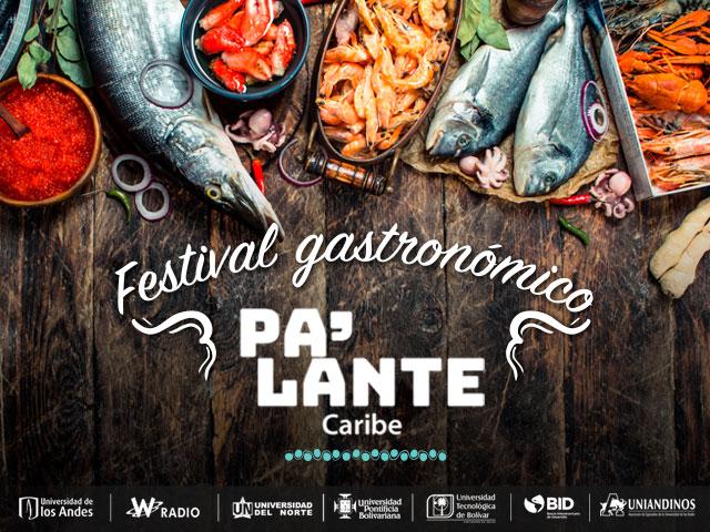 Mesa con alimentos de la gastronomía Caribe colombiana de la campaña Pa'lante Caribe